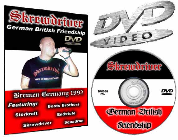 Skrewdriver German British Friendship Bremen Germany